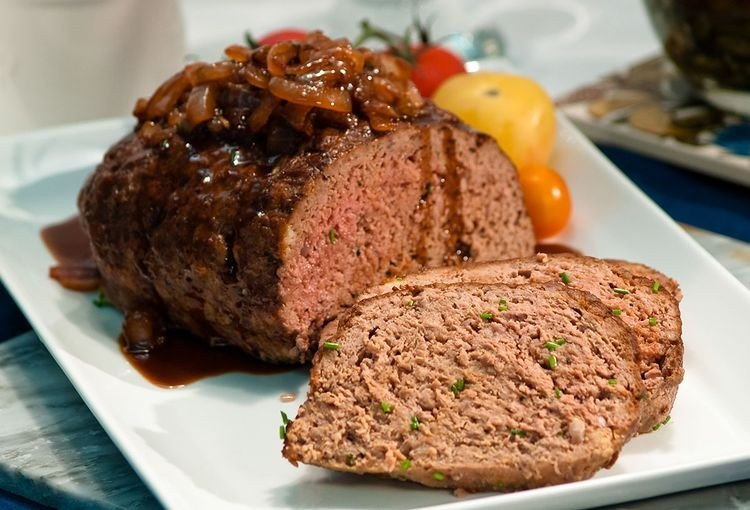 meatloaf from pureland america farms cooked to medium rare